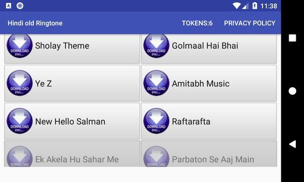 Hindi old Ringtone: mobile ringtone app screenshot 1