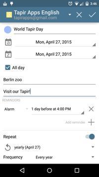aCalendar - Android Calendar apk screenshot