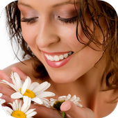 Girl With A Flower In Her Hand icon