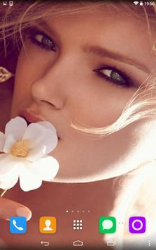 Girl With A Flower In Her Hand apk screenshot