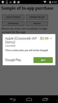 New Crosswalk IAP Demo apk screenshot