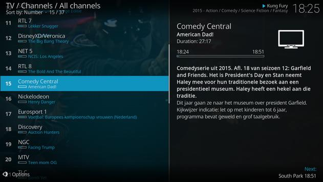 Kodi apk screenshot