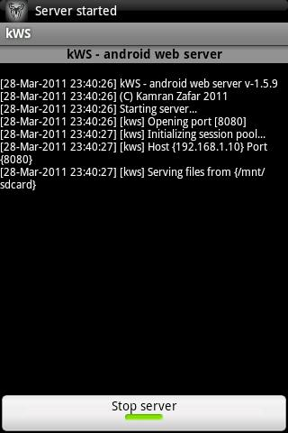 kWS - Android Web Server for Android - APK Download