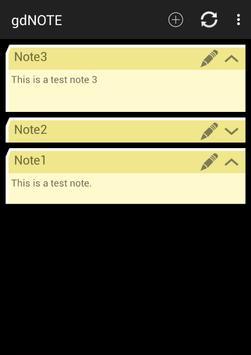 gdNOTE apk screenshot