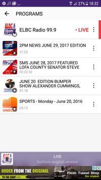 ELBC Radio 99.9 screenshot 4