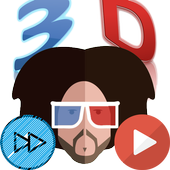 Red Blue 3D Player Pro icon