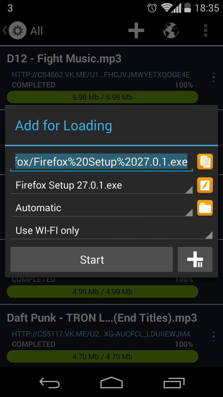 Loader Droid download manager for Android - APK Download
