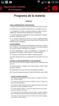 Organización y Gestión de la Empresa (U.N.N.E) capture d'écran 2