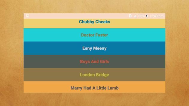 Nursery Rhymes Songs - Free Rhymes screenshot 1