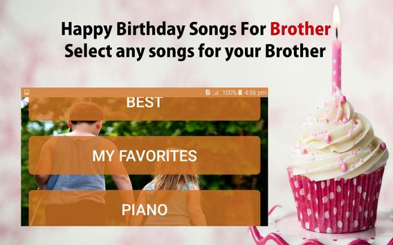 Happy Birthday Song For Brother screenshot 20