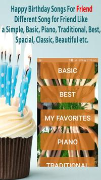 Happy Birthday Songs For Friends poster