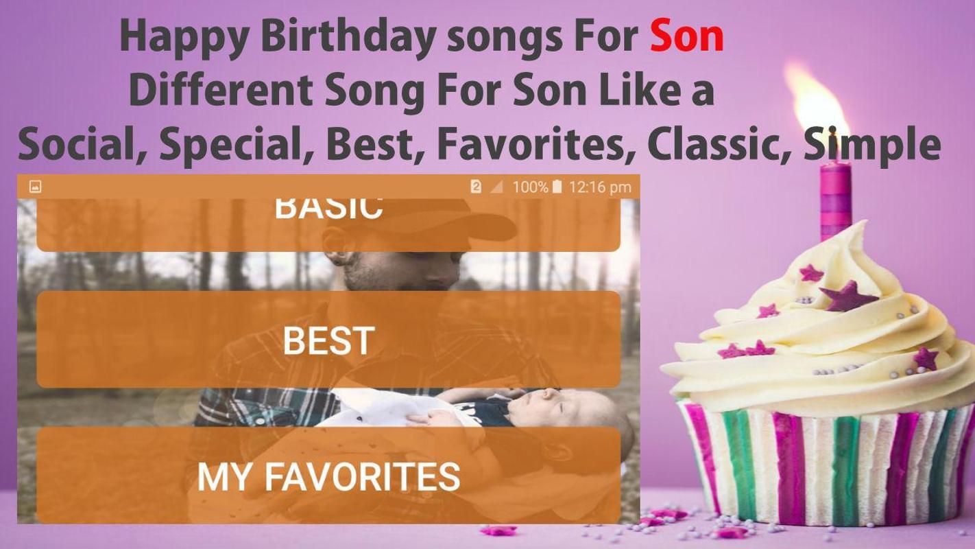 Alles Gute zum Geburtstag Lied für Sohn für Android - APK herunterladen
