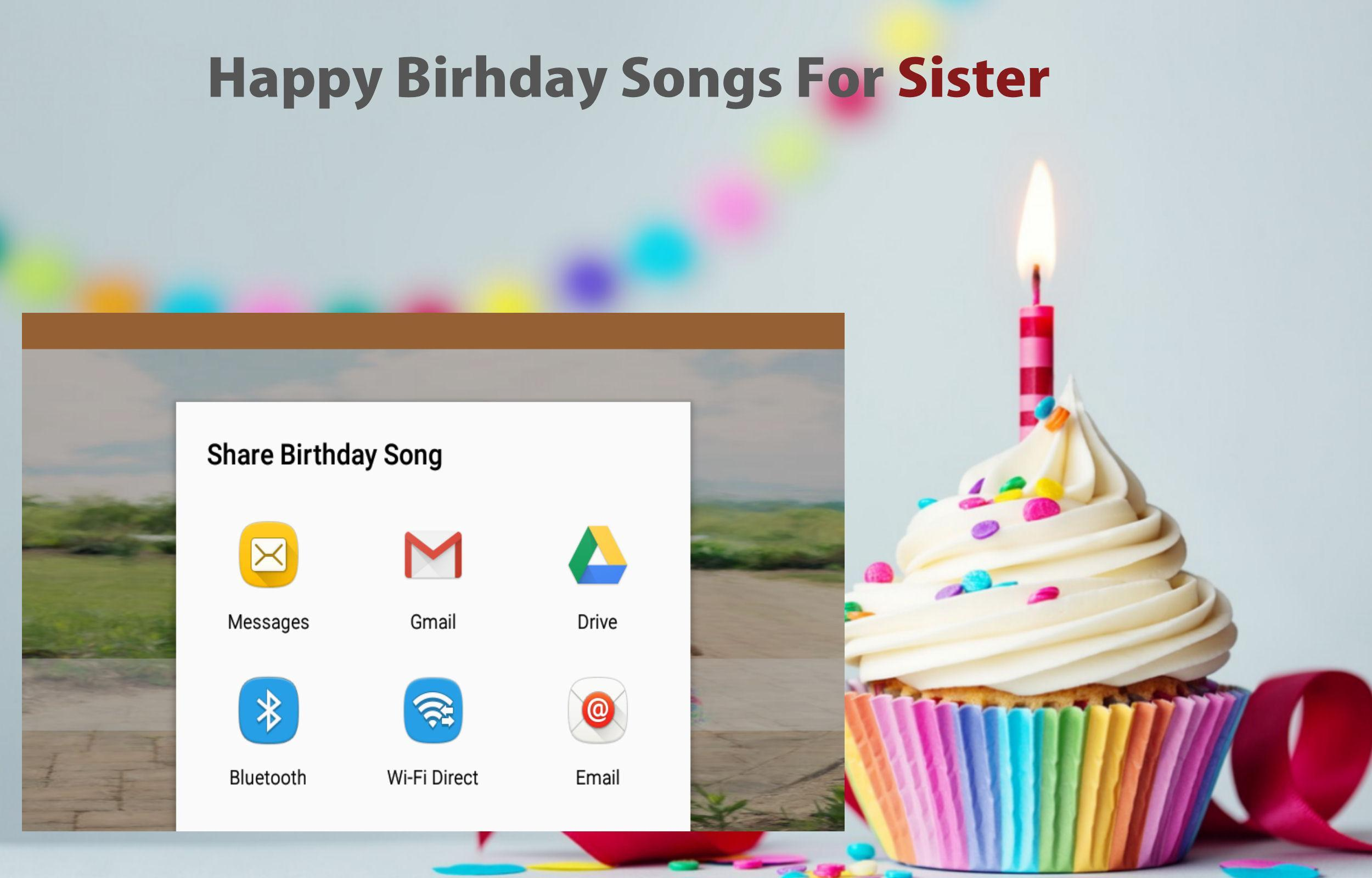 Happy Birthday song for Sister for Android - APK Download