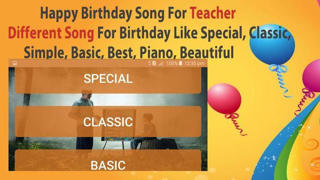 Happy Birthday Songs For Teacher screenshot 4