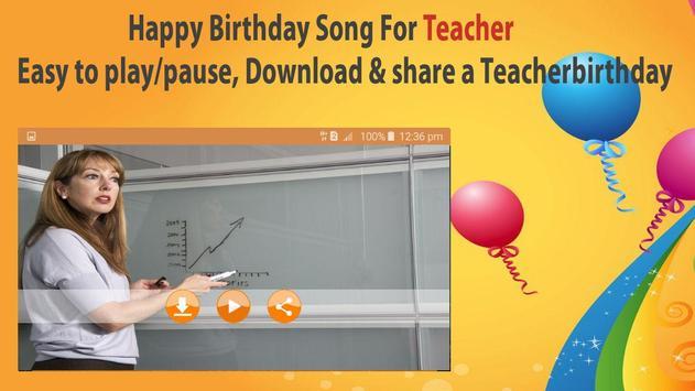 Happy Birthday Songs For Teacher screenshot 5