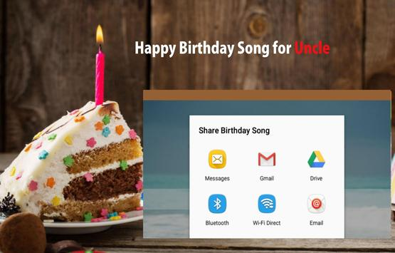 Happy Birthday Song For Uncle screenshot 14