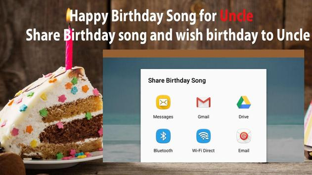 Happy Birthday Song For Uncle screenshot 7