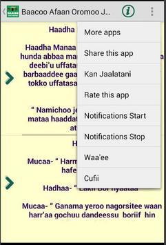 Baacoo Afaan Oromoo Jokes apk screenshot