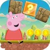 Super Peppa Adventure Pig Jungle Running icon