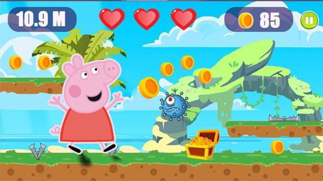 Super Peppa Adventure Pig Jungle Running screenshot 2