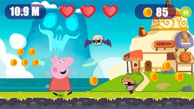 Super Peppa Adventure Pig Jungle Running screenshot 3