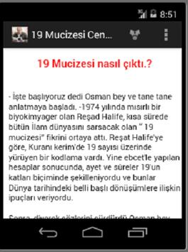 19 MUCİZESİ ve CENK KORAY apk screenshot