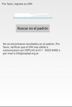 OSPLAD Credencial poster