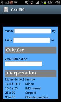 Body mass index apk screenshot