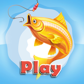 Games fishing on river icon