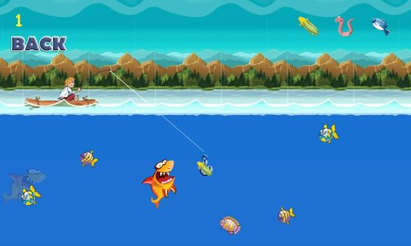 Games fishing on river poster