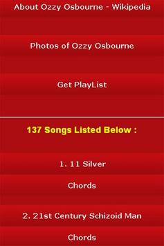 All Songs of Ozzy Osbourne screenshot 2