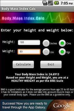 Body Mass Index Calc screenshot 1