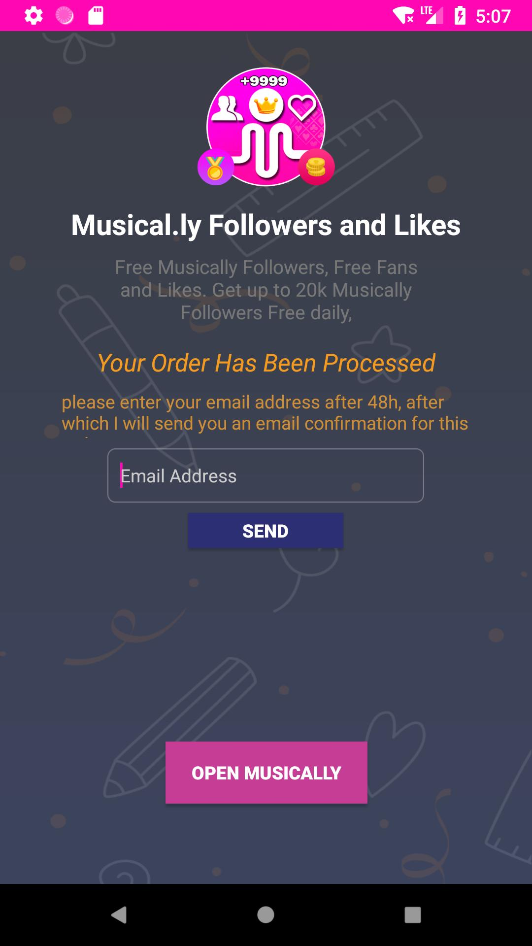 Get Real Followers Fans & Likes For Musically Free for
