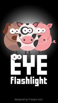Eye flashlight poster