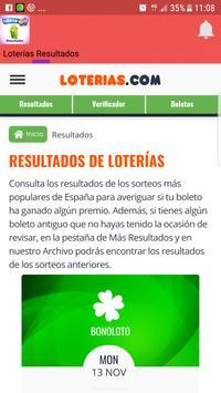 Loterías Resultados screenshot 1