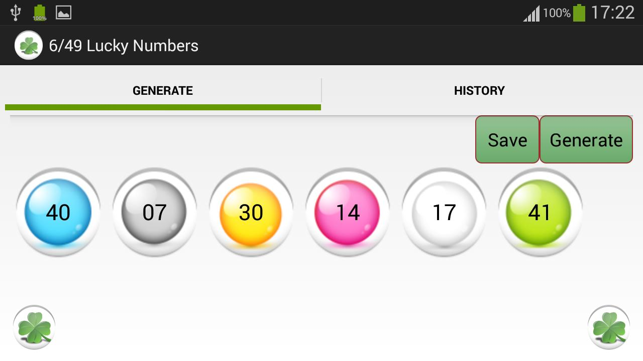 6/49 Lucky Numbers free for Android - APK Download