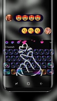 Love You neon Keyboard poster