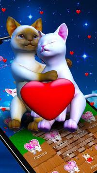3D Love Couple Cat Theme screenshot 2