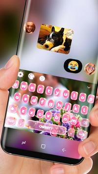 Romantic Couple Love Keyboard Bouquet Theme apk screenshot