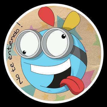 Emoticones divertidos Whatsapp poster