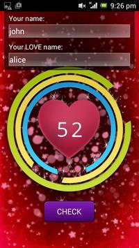 Love Test - Names screenshot 1