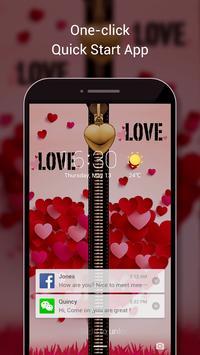 Love Zipper Lock Screen-Love Lock Screen Theme apk screenshot