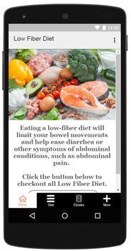 Low Fiber Diet poster