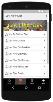 Low Fiber Diet screenshot 1