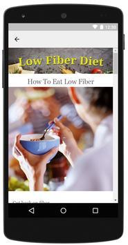Low Fiber Diet screenshot 2