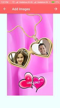 Romantic Love Dual Photo Frame screenshot 4