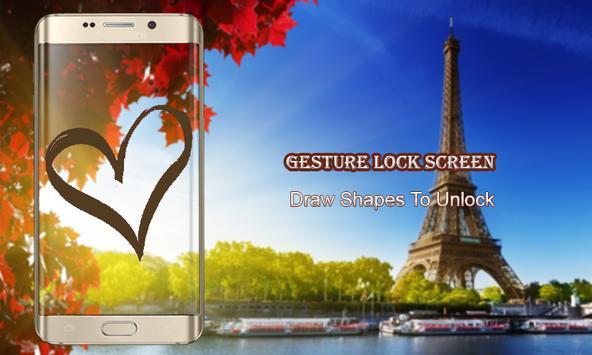 Letter lock screen poster