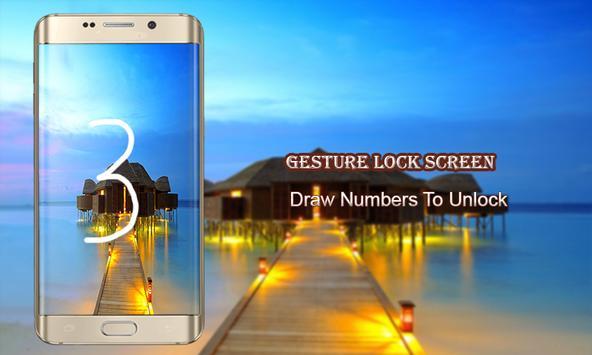 Letter lock screen apk screenshot