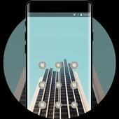Lock theme for asuszenfone5 building wallpaper icon