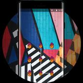 abstract shape art design lock theme icon